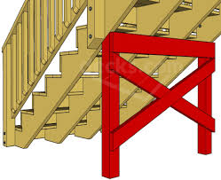decks com extra support for long stair stringers