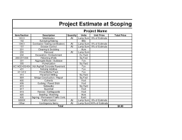 construction cost estimate template excel estimate spreadsheet
