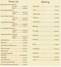 nail salon menu near me nail paint design
