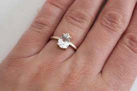 white topaz engagement ring white topaz pear cut solitaire engagement ring 14k recycled gold