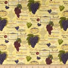 the vineyard collection wine labels cream from fabricdotcom