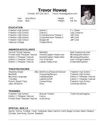 Casting Resume Acting Resume Template For Microsoft Word Beautiful Actor Resume