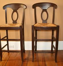 Pottery Barn Bar Stools Pottery Barn French Country Style Rush Seat Bar Stools Ebth