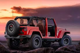 red jeep liberty jeep wrangler red rock debuts at sema entering limited production