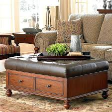 leather tray top ottoman awesome leather ottoman with tray top living tufted leather ottoman