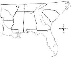 Northeast Georgia Map Label Southern Us States Printout Enchantedlearningcom Outline