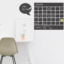chalkboard wall calendar with memo vinyl wall decal rocky chalkboard wall calendar with memo vinyl wall decal