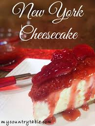 new york cheesecake my country table
