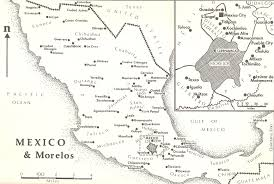 Chihuahua Mexico Map by Map Of Mexico And The State Of Morelos 1910