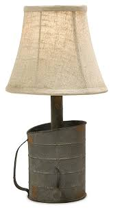 Farmhouse Table Lighting by Rustic Metal Tin Can Style Farmhouse Replica Table Lamps Set Of