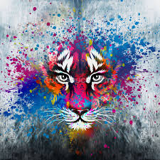 tiger art wallpaper wall mural wallsauce usa save your design for later