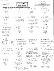 chapter 4 test review answer key