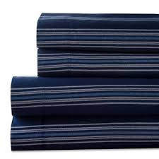 Rubber Sheets For Bed Buy Blue Striped Sheets From Bed Bath U0026 Beyond