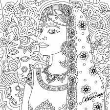 indian beauty coloring page zentangles colouring