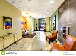 modern colorful foyer residential building stock photo image