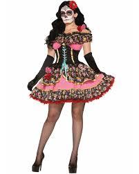 k89 mexican day of the dead skull spanish dress senorita