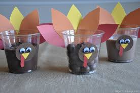 diy thanksgiving turkey cups