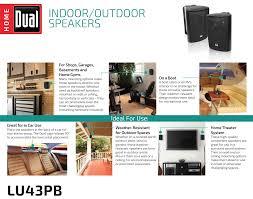dual lu43pb 3 way indoor outdoor speakers black amazon ca