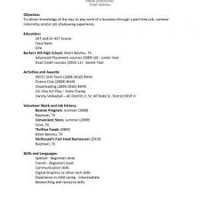 Part Time Job Resume Examples by Picturesque Resume Sample First Time Job Seeker Resume Examples