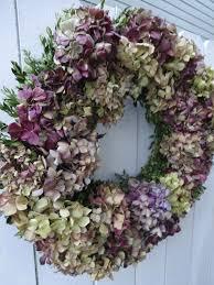 hydrangea wreath boxwood wreath dried wreath natural wreath door