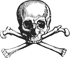 clipart skull and cross bones