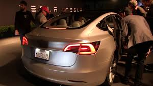tesla model 3 rear exterior youtube