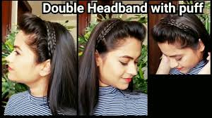 headband with puff everyday quick easy hairstyles for for