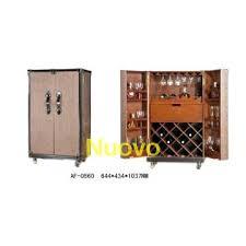 Folding Home Bar Cabinet Folding Bar Cabinet Brown Rattan 2 Door Leather Furniture Wine Bar