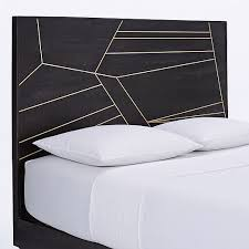 roar rabbit brass geo inlay bed ebony west elm