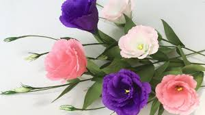 lisianthus flower abc tv how to make lisianthus paper flowers from crepe paper