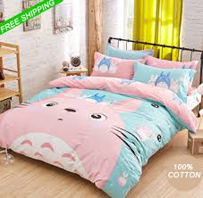 Light Blue Bed Comforters Cotton Pink Totoro Bed Sets Comforter Sets Light Blue Duvet Covers