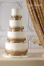 glisten u0026 glam gold sequin wedding cake by the cake parlour