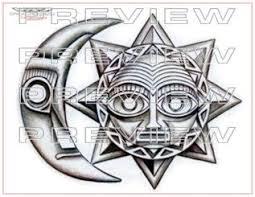 lunar aztec pencil and in color lunar aztec