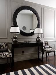 black entry hall table entry hall decor hall transitional with silver gourd ls black
