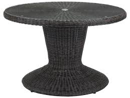 Zuo Outdoor Furniture by Zuo Outdoor Noe Aluminum Wicker 48 Round Glass Top Dining Table In