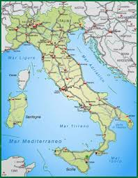 Map Of Italy With Cities by Highway Map Of Italy In Green U2014 Stock Vector Artalis 9556647