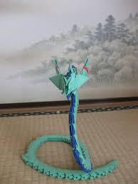 Origami Snake - 3d origami snake by kumazaza on deviantart