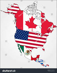 North America Map Detailed by Highly Detailed North America Map Country Stock Vector 193366064