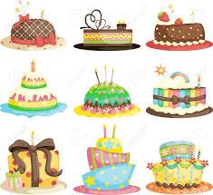 gourmet birthday cakes a vector illustration of different gourmet birthday cakes royalty