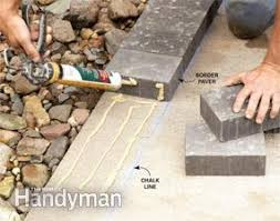 Thin Patio Pavers How To Cover A Concrete Patio With Pavers Family Handyman