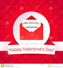 Valentine S Day Flags Valentine U0027s Day Card On A Bright Red Background With Hearts Happy