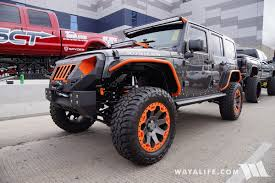 jeep wrangler orange 2016 sema fab four granite orange jeep jk wrangler unlimited