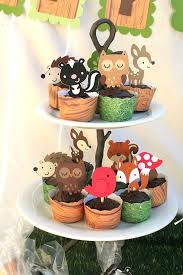 woodland creature baby shower diy woodland creatures cupcake toppers you 12 4 50 via