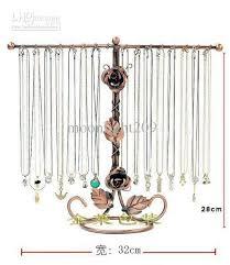 necklace holder stand images Wholesale 32 hooks copper metal rose necklace holder organizer jpg
