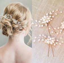 hair accessories for women women white pearl flower hair clip hairpin for wedding hair