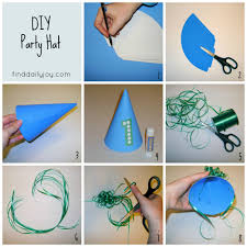 party hat tutorial and printable find daily joy