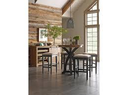 kincaid furniture stone ridge transitional rustic round bistro