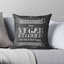 vegan home decor modern vegan home decor cushion chalkboard style welcome to my