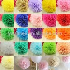 yiwu aimee supplies wholesale different size tissue paper pom poms