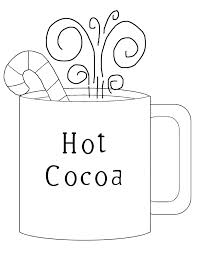 drinking chocolate cocoa coloring page cake with one candle